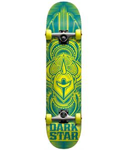 Darkstar Scour Youth Mini FP Skateboard Complete Blue/Yellow 7.0in