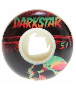 Darkstar Skull Street Formula Skateboard Wheels White/Black 51mm
