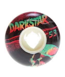 Darkstar Skull Street Formula Skateboard Wheels White/Black 53mm
