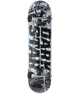 Darkstar Splatter Skateboard Complete Black/White 7.6