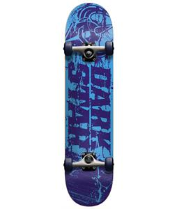 Darkstar Splatter Youth Mid FP Skateboard Complete Blue 7.4in