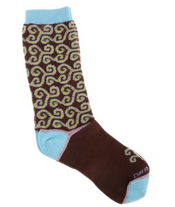 Darn Tough Spirals Crew Light Socks Henna