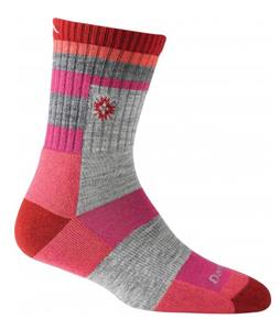 Darn Tough Aztec Micro Crew Light Cushion Hiking Socks Cranberry