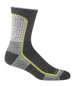 Darn Tough Light Hiker Micro Crew Light Cushion Hiking Socks Charcoal/Lime