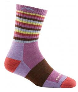 Darn Tough Stripes Micro Crew Cushion Hiking Socks Plum Stripe