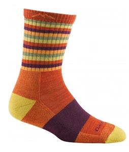 Darn Tough Stripes Micro Crew Cushion Hiking Socks Tomato Stripe