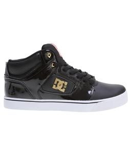 DC Alumni Mid Skate Shoes Black/White/Gold