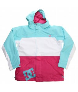 DC Amo K Snowboard Jacket White/Crazy Pink/Blue Radiance