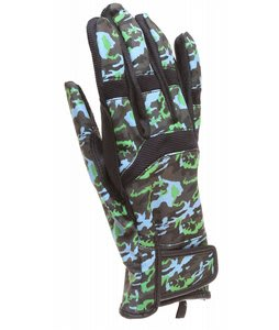 DC Antuco Gloves Lime Green/Camo