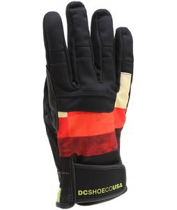 DC Antuco Gloves Red Plaid