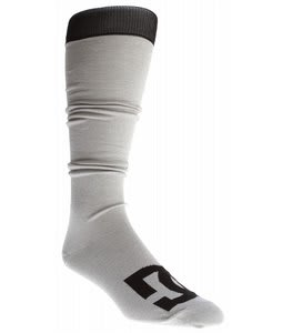DC Apache Lite Snowboard Socks Heather Galvanized