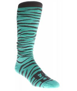 DC Apache Snowboard Socks Pool Green Zebra