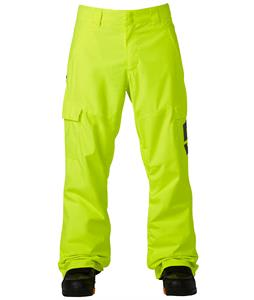 DC Banshee Snowboard Pants Safety Yellow