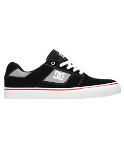 DC Bridge Skate Shoes Black/Athletic Red/White