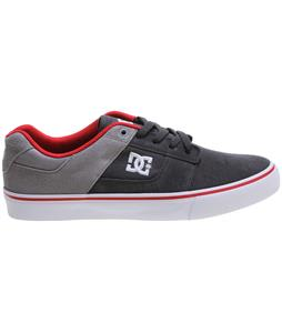 DC Bridge Shoes Grey/Grey/Red