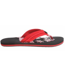 DC Central Sandals Athletic Red/Black