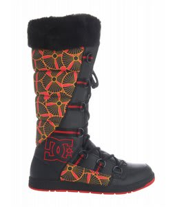 DC Chalet Slim Casual Boots Black/Ath Red