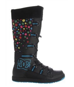 DC Chalet Slim Casual Boots Black/Turquoise