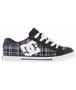 DC Chelsea Skate Shoes Black/White/Turquoise