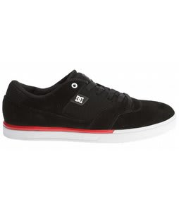 DC Cole Lite S Skate Shoes Black/Athletic Red/White