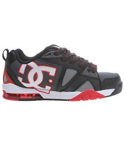 DC Cortex Shoes Black/Athletic Red/Battleship