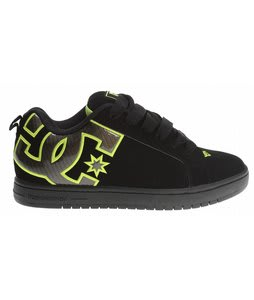 DC Court Graffik MG Skate Shoes Black/Soft Lime