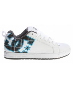 DC Court Graffik SE Skate Shoes White/Turquoise/Textile