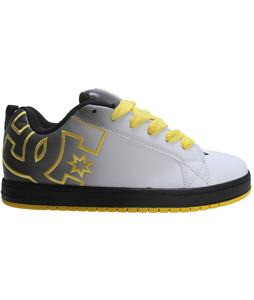 DC Court Graffik Se Skate Shoes Grey/Yellow