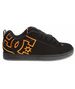 DC Court Graffik TP Skate Shoes Black/Citrus