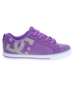 DC Court Graffik Vulc Tx Skate Shoes Purple/White
