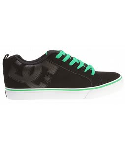 DC Court Vulc Skate Shoes Black/Green