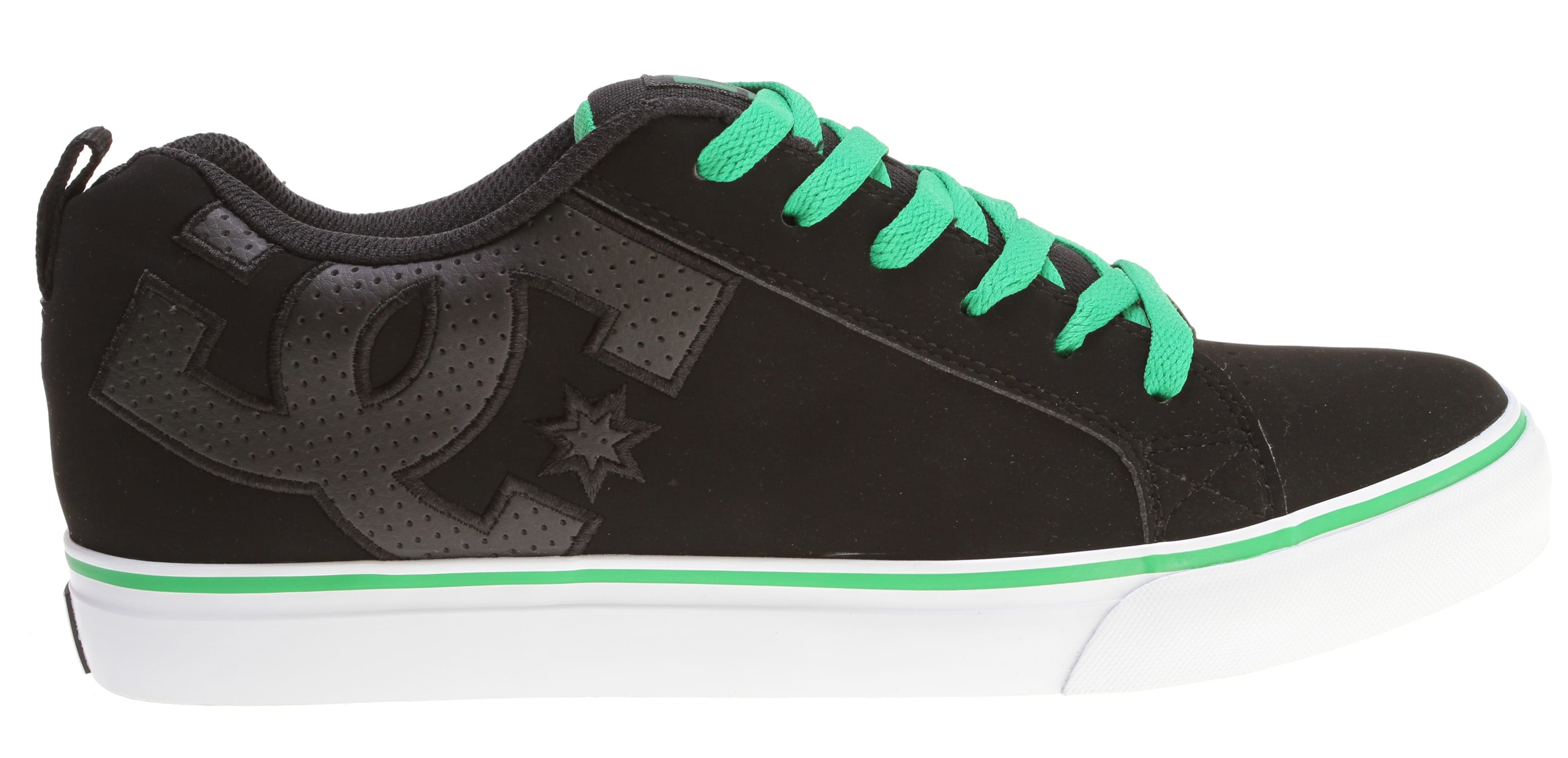 Shop for DC Court Vulc Skate Shoes Black/Green - Men's