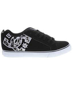 DC Court Vulc SE Skate Shoes Black/White Print