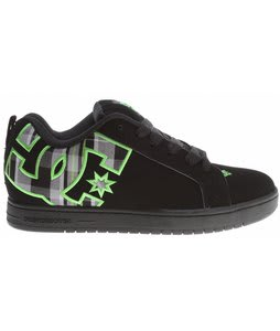 DC Court Graffik SE Skate Shoes Black/Lime Green