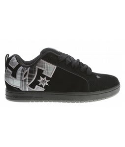 DC Court Graffik SE Skate Shoes Battleship Plaid