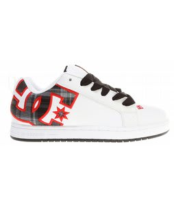 DC Court Graffik SE Skate Shoes White/Athletic Red/Plaid