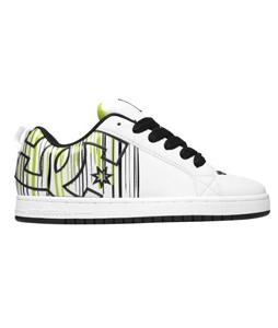 DC Court Graffik SE Skate Shoes White/Black/Green