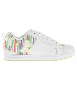 DC Court Graffik SE Skate Shoes White/White/Soft Lime