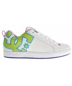 DC Court Graffik SE Skate Shoes White/Crazy Pink/Plaid
