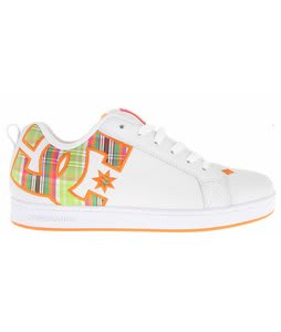 DC Court Graffik SE Skate Shoes White/Citrus/Plaid