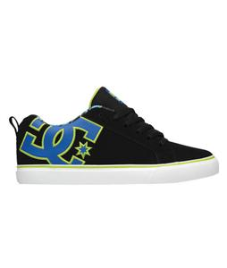 DC Court Vulc SE Skate Shoes Black/Royal/Soft Lime