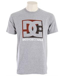 DC Cross Star T-Shirt Heather Grey/Maroon