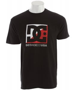 DC Cross Stars T-Shirt Black/Red