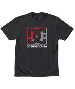 DC Cross Stars T-Shirt Black/Athletic Red