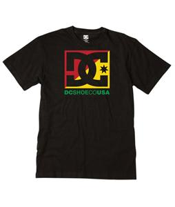 DC Cross Stars T-Shirt Black/Rasta