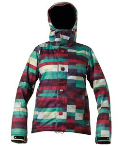 DC Data Snowboard Jacket Pink Plaid