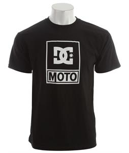 DC DC Moto Logo T-Shirt Black - Men's