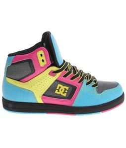 DC Destroyer Hi Skate Shoes Black/Crazy Pink/Blue