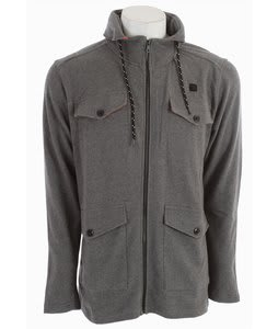 DC Engine Hooded Fleece Jacket Heather Grey