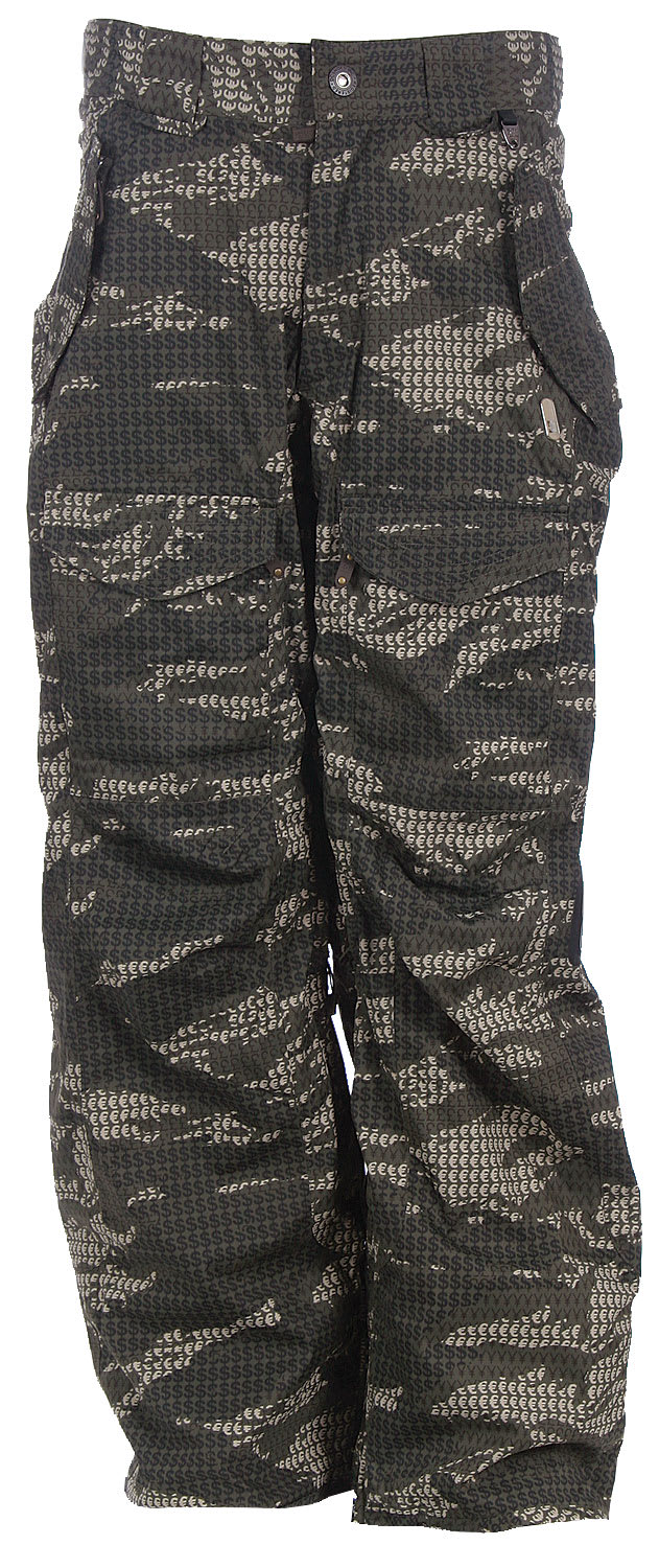 Shop for DC Farad Snowboard Pants Currency Camo/Olive - Men's